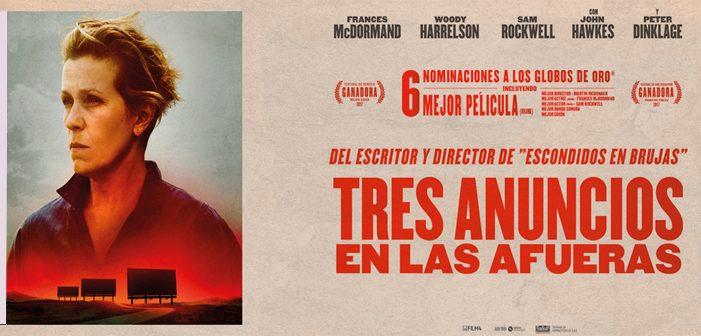 «Tres anuncios en las afueras», nominada a 7 Oscar, éste finde en el Antzoki