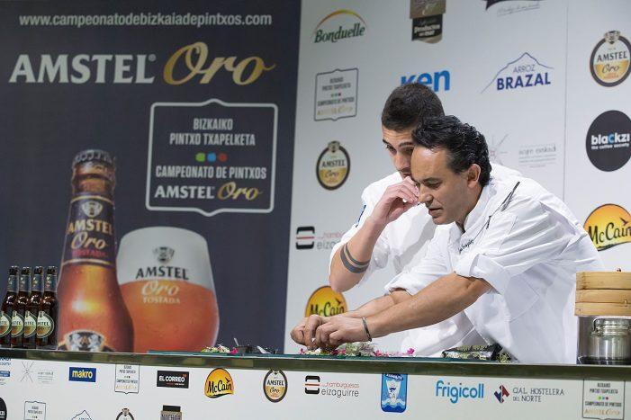 Sagarra y Giroa pasan a la gran final del campeonato de pintxos de Bizkaia